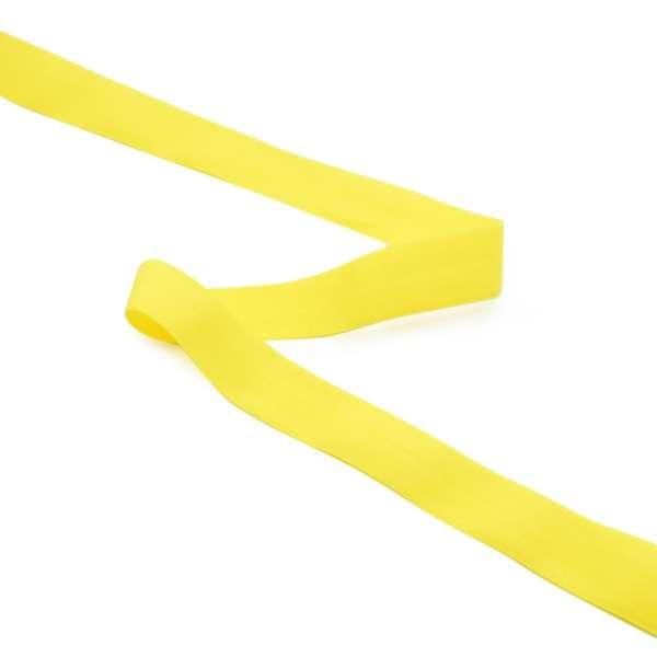 Косая бейка стрейч 20 мм желтая