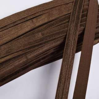 косая бейка стрейч коричневая 15 мм