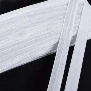 косая бейка стрейч белая 15 мм
