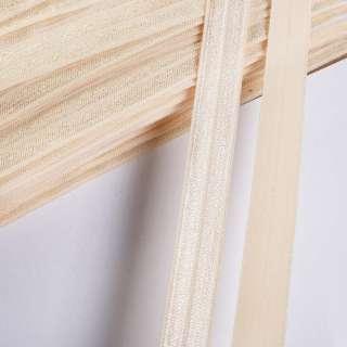 косая бейка стрейч золотисто-кремовая 15мм