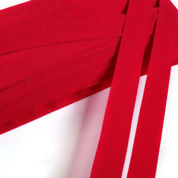 Косая бейка стрейч 20 мм красная