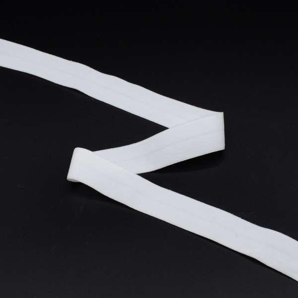 Косая бейка стрейч 20 мм белая