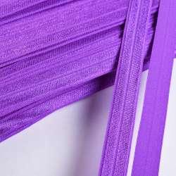 Косая бейка стрейч 15 мм фиолетовая