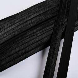 Косая бейка стрейч 15 мм черная