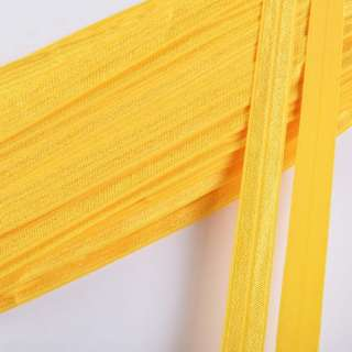 Косая бейка стрейч 15 мм желтая