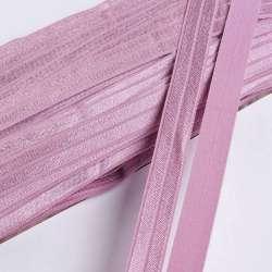 Косая бейка стрейч 15 мм розово-сиреневая