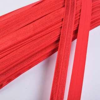 Косая бейка стрейч 15 мм красная