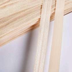 Косая бейка стрейч 15 мм кремово-золотистая