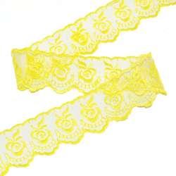 Кружево капрон 40мм желтое