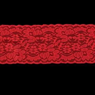 Кружево стрейч 100мм красное