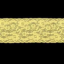 Кружево стрейч 100мм желтое
