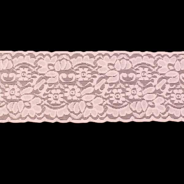 Кружево стрейч 100мм розовое светлое
