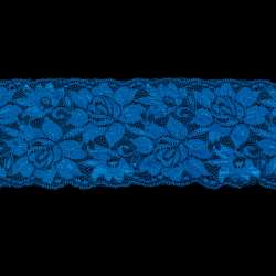 Кружево стрейч розы 100мм ультрамарин