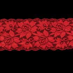 Кружево стрейч розы 100мм красное