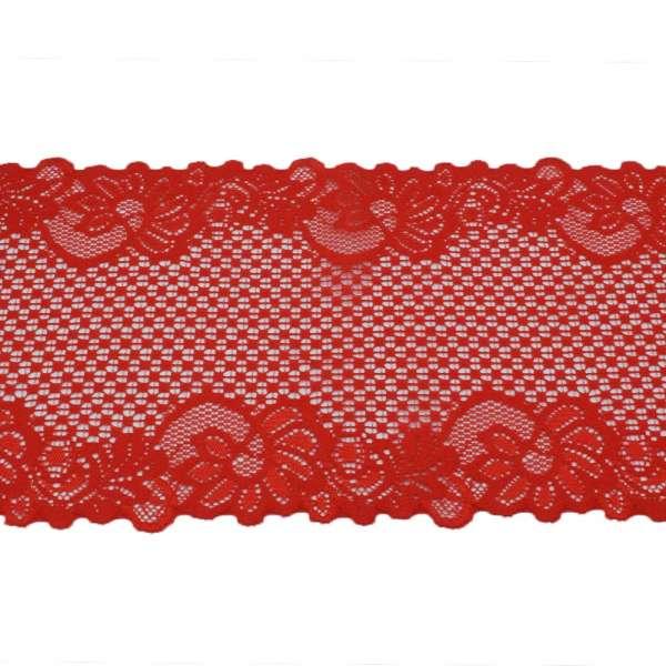 Кружево стрейч 150мм красное