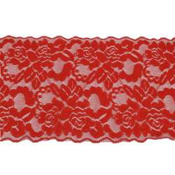 Кружево стрейч 175мм красное