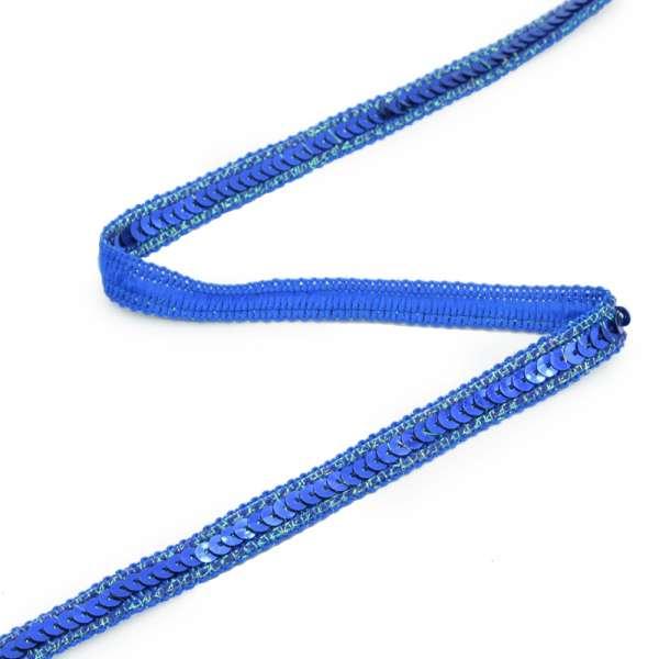 Тесьма с пайеткой 13мм синяя