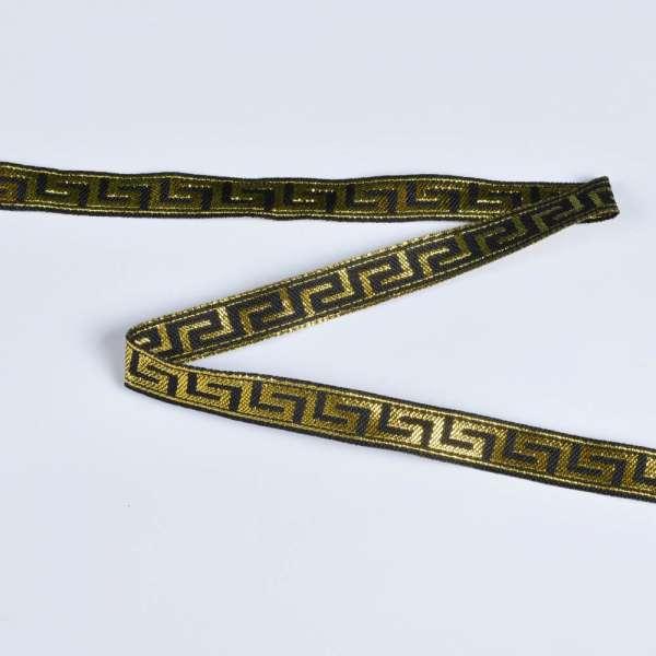 Тесьма с вышивкой и люрексом в ассортименте меандр-1 см