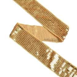Тесьма с пайетками 40мм золото
