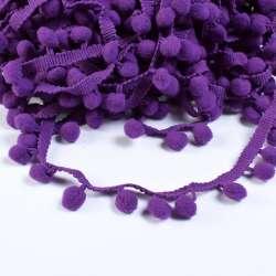Тесьма с помпонами 10мм фиолетовая