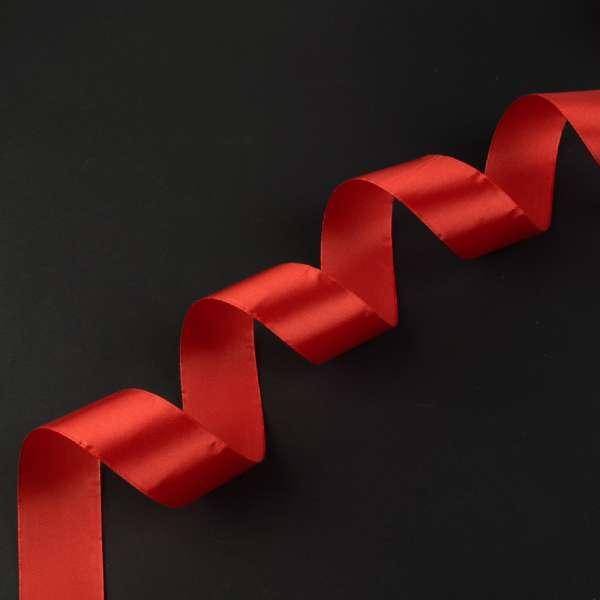 Лента атласная 40мм красная