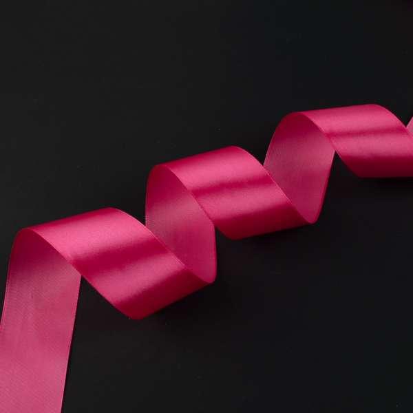 Лента атласная 50мм розовая темная