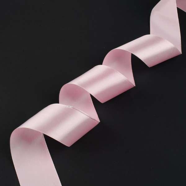 Лента атласная 50мм розовая светлая