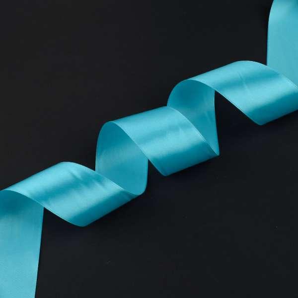Лента атласная 50мм голубая