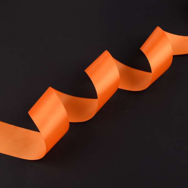 Лента атласная 50мм оранжевая