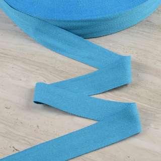 Лента киперная 40мм голубая 15В43Г27