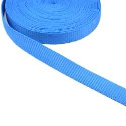 Лента ременная 20мм голубая
