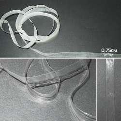 Тесьма силиконовая 7,5мм прозрачная и матовая