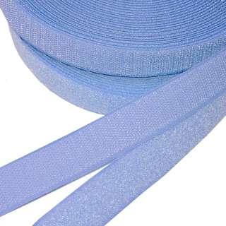 Лента липучка 25мм голубая №4