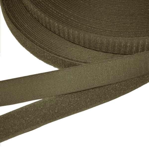 Лента липучка 25мм коричнево-оливковая №7