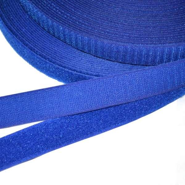 Лента липучка 25мм синяя ультрамарин №14