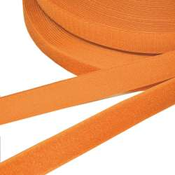 Лента липучка 25мм оранжевая темная №15