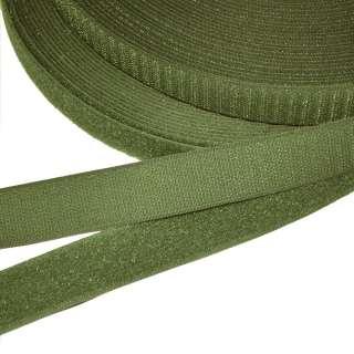 Лента липучка 25мм зеленая хаки №19