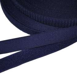 Лента липучка 25мм синяя темная №22