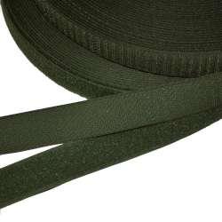 Лента липучка 25мм зеленая хаки темная №25