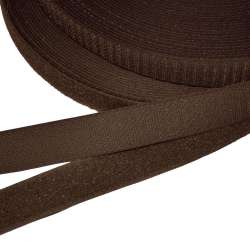 Лента липучка 25мм коричневая №26