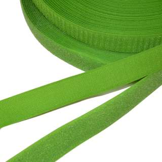 Лента липучка 25мм зеленая травяная №28