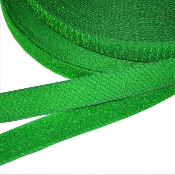 Лента липучка 25мм зеленая яркая №30