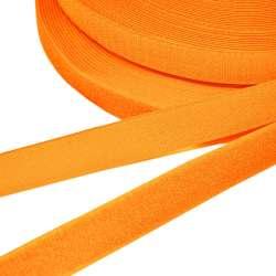 Лента липучка 25мм оранжевая неон №38