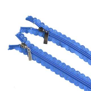 молния ажурная спиральная М-20 №7 синяя