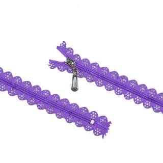 Молния ажурная спиральная М-20 Тип-4 неразъемная фиолетовая