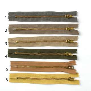 Молния металл М-14 Тип-3 неразъемная х/б золото, в ассортименте