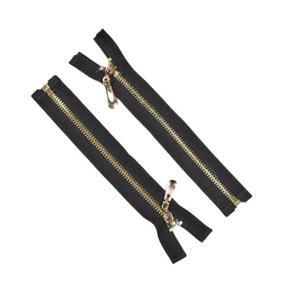 Молния металл М-19 Тип-7 разъемная х/б золото черная