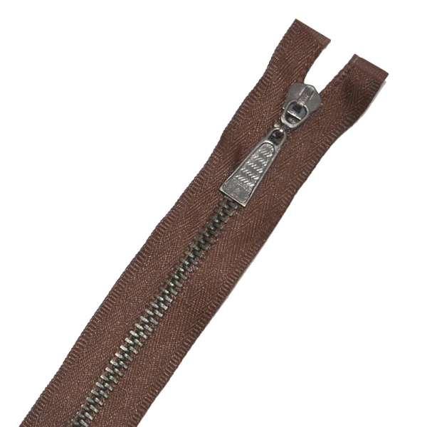 Молния металл М-50 Тип-5 разъемная х/б коричневая