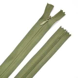 Молния потайная М-15 Тип-3 неразъемная 1 бегунок болотно-зеленая х/б