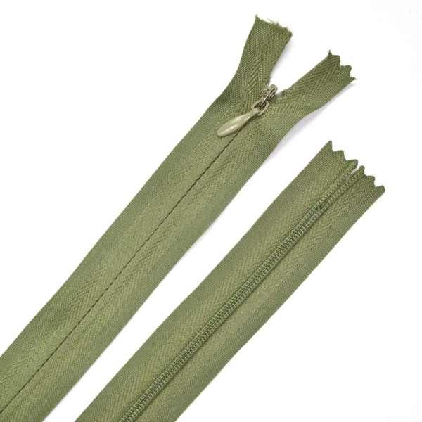 Молния потайная М-15 Тип-3 неразъемная х/б болотно-зеленая